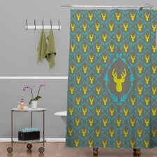 Bianca Green Oh Deer 3 Shower Curtain