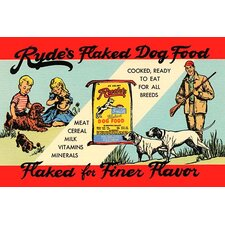 'Ryde's Flaked Dry Food' by Curt Teich Vintage Advertisement