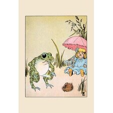 'What Do I Do for a Parasol?' by Frances Beem Painting Print