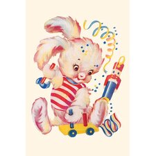 'Toy Rabbit at Play' Painting Print