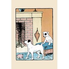 'Snip and Snap By the Fireplace' by Julia Dyar Hardy Wall Art