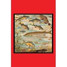 'Fish Pond' Painting Print