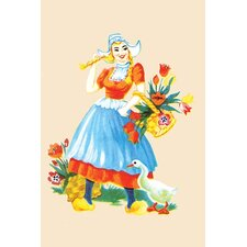 'The Dutch Girl' Painting Print