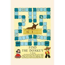 'Find The Donkey' by Elaine Ends Wall Art