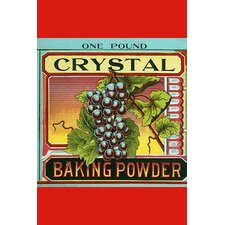 'Crystal Baking Powder Grapes' by Saint Louis Label Works Vintage Advertisement