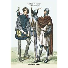 Italian Costumes: Soldiers in Armor Painting Print