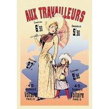 Aux Travailleurs by Alfred Choubrac Vintage Advertisement