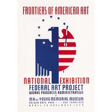 'Frontiers of American Art: National Exhibition' by WPA Vintage Advertisement