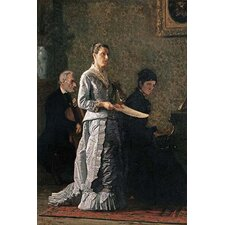 'Singing A Pathetic Song' by Thomas Eakins Wall Art