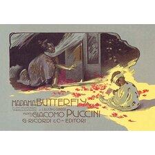 Madama Butterfly: the Struggle by Adolfo Hohenstein Vintage Advertisement