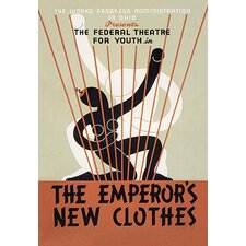 'The Emperor's New Clothes: Federal Theater for Youth' by Richard Halls Vintage Advertisement