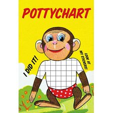 'Monkey Potty Chart' by Jason Pierce Wall Art