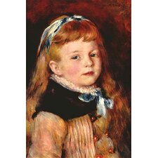 'Mademoiselle Grimprel with Blue Hair-Band' by Pierre-August Renoir Painting Print