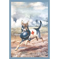 Red Cross Dog by Alexander Pope Painting Print