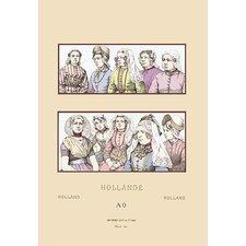 'Feminine Styles of Nineteenth Century Holland' by Auguste Racinet Graphic Art
