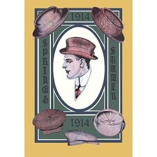 1914 Spring-Summer Hat Collection Painting Print
