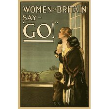 "'Women of Britain say ""Go!""' by Kealey Wall Art"