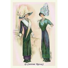 'Le Costume Royals: Ladies in Blue and Green' Painting Print