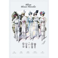 'Album Blouses Nouvelles 5 Feminine Styles' by Atelier Bachroitz Graphic Art