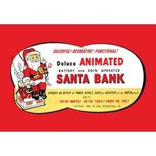 'Animated Santa Bank' Wall Art