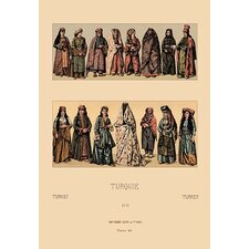 'Traditional Turkish Women' by Auguste Racinet Graphic Art