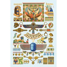 'Egyptian Jewelry' by Auguste Racinet Graphic Art