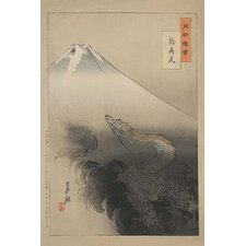 'Dragon Rising to the Heavens' by Gekko Ogata Painting Print