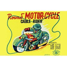 'Round Motor-cycle Cable Rider' Vintage Advertisement