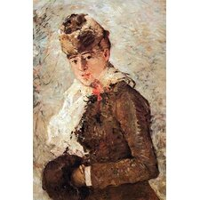 'Winter Coat' by Berthe Morisot Painting Print