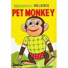 'Mechanical Walking Pet Monkey' Wall Art