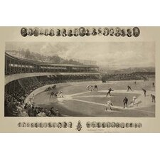 'Baseball Match' by Boussod, Valadon and Co Graphic Art