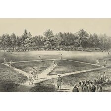 'American National Game of Base Ball' by Currier and Ives Graphic Art