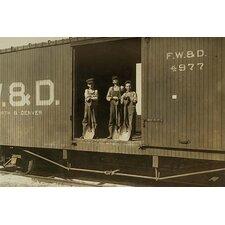 '3 Boys in Box Car' Photographic Print