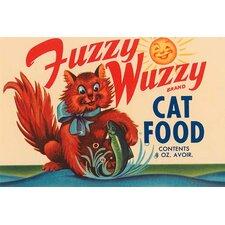 'Fuzzy Wuzzy Brand Cat Food' Wall Art