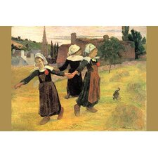 'Small Breton Women' by Paul Gauguin Painting Print