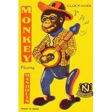 'Monkey Playing Mandolin' Wall Art