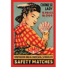 'Chinese Lady Safety Matches' Vintage Advertisement