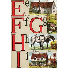 'E, F, G, H, I Illustrated Letters' by Edmund Evans Wall Art