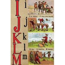'I, J , K, L, M Illustrated Letters' by Edmund Evans Wall Art