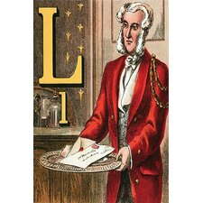 'L for the Letter That Comes By the Mail' by Edmund Evans Wall Art
