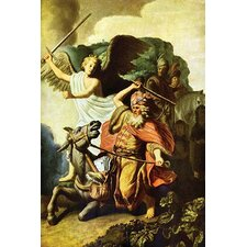 'Prophet Balaam and the Donkey' by Rembrandt Van Rijn Painting Print