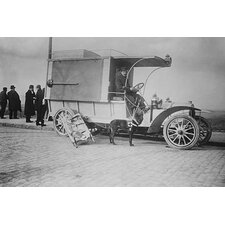 'Max Red Cross Dog and Dedietrich Auto' Photographic Print