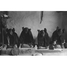 'Hopi Women Knead Dough' by Curtis Photographic Print