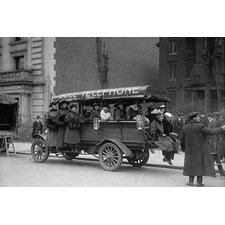 'Telephone Company Transports Phone Operators to Its Own Offices During Strike' Photographic Print