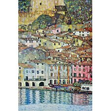 Malcena at The Gardasee Painting Print on Wrapped Canvas