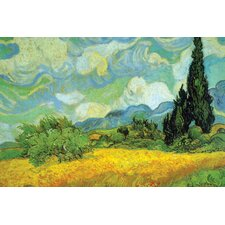Cypresses by Vincent van Gogh Painting Print on Wrapped Canvas