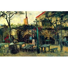 Terrace of a Cafe by Vincent van Gogh Painting Print on Wrapped Canvas