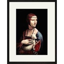 Portrait of a Lady with an Ermine by Leonardo Da Vinci Framed Painting Print