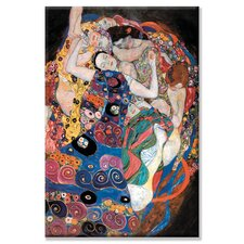 Embrace by Gustave Klimt Painting Print on Wrapped Canvas