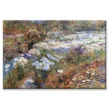 Water Garden Painting Print on Wrapped Canvas